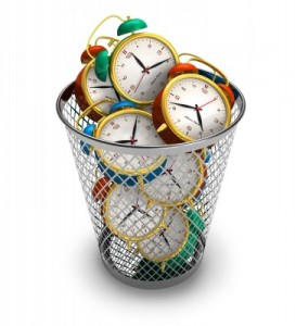 Time Wasted _ clock in bin 9491623_s