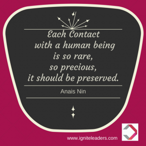 Each Contact with a Human Being